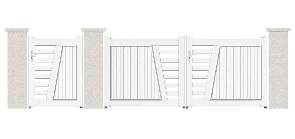 Les portails PVC n'obéissent qu'à vous : à vos exigences, à votre confort, à vos besoins.