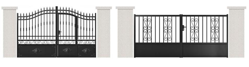 Différents styles de portails