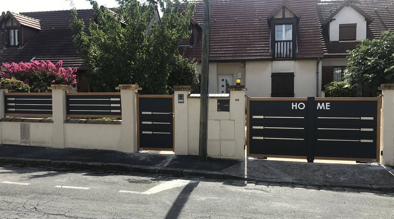 Filigrane, portillon et clôture
