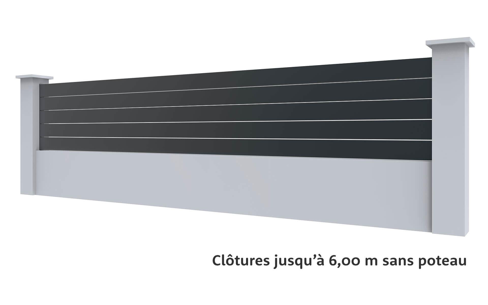 Clôture Premium XXL jusqu'à 6,00 m -Cofreco